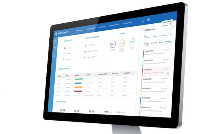 DatosIO - Management Screen